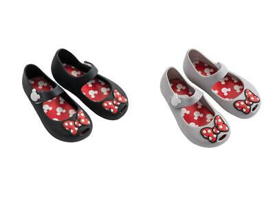 Disney Minnie Mouse Pvc Shoes for Girls Gray/Black Differents sizes
