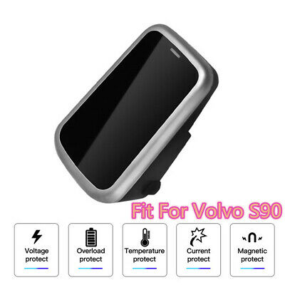 QI Wireless Car Charger For Volvo XC90 XC60 S90L V90 2017 2018 Phone Cradle