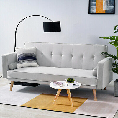Luxury Modern Fabric 3 Seater Sofa Bed Sofabed Reliner Couch Settee Furniture UK