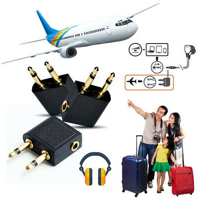 [Pack of 2] Airplane Flight Headphone Adapter for Plug Jack Socket Converter