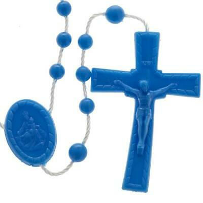Rosary Beads - Rosaries Plastic Economical Prison Issue/Childrens - Large