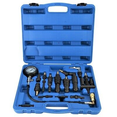 16pc Diesel Engine Compression Gauge Tester Cylinder Pressure Test Set Kit CA