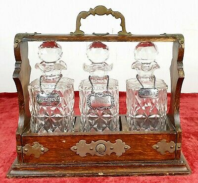 Convoy Of 3 Liquor Bottles. Carved Crystal And Silver . Circa 1950.
