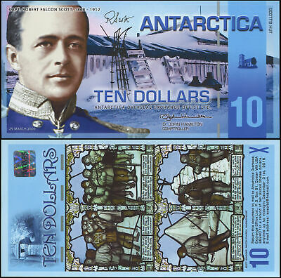 Antarctica Banknote 10 Dollars - P.nl 29.03.2009 Polymer Unc - Private Issue