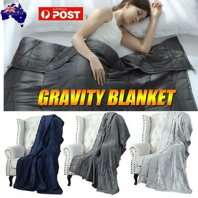 Premium Cotton Weighted Blanket Adults Kids Gravity Sleep 7/10/15/20lb/25lb
