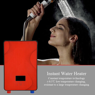 Instant Electric Hot Water Heater For Home Bathroom Shower Red Color 220V 6500W