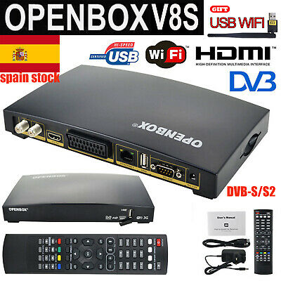 Openbox V8S PVR 1080PHD MPEG FTA DVB-S/S2 Satellite TV Receiver&USB WIFI Antenna