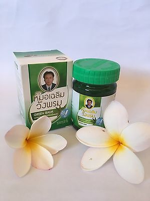 Wangprom Thai Herbal Green Balm Massage Pain Relief