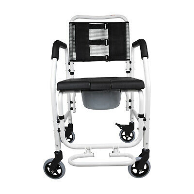 PE Care Commode / Shower Chair / Transport Chair On Wheels / Ausstock