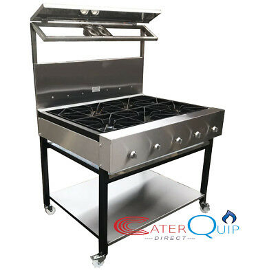5 Burner Cooker Heavy Duty Curry Cooker For Commercial Use