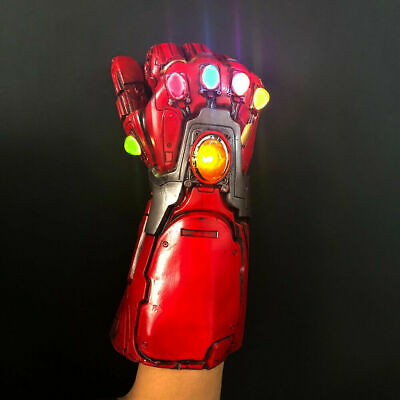 Avengers 4 Endgame Infinity Gauntlet Iron Man Tony Stark LED Gloves Cosplay PVC