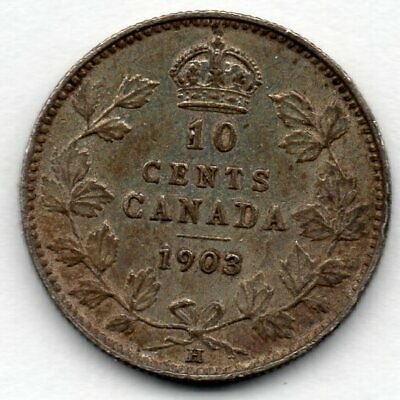 Canada 10 Cent 1903 H (92.5% Silver) Coin