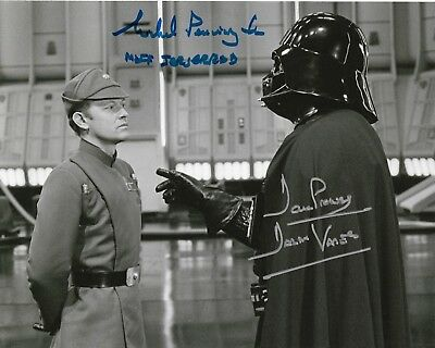 Star Wars Dave Prowse and Michael Pennington Signed Autograph 10 x 8 Photo