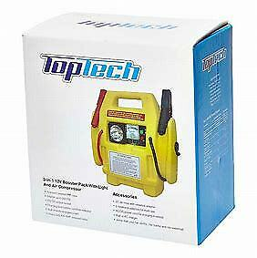 Top Tech 3-in-1 12V Booster Pack with Air Compressor Car Lead Jump Starter