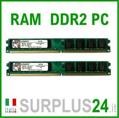 RAM KINGSTON KVR667D2N5/2G 4Gb(2x2Gb) PC2-5300U DDR2-667Mhz 240pin x DESKTOP