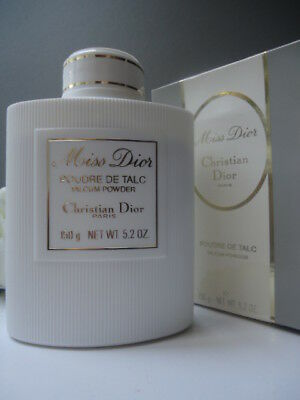 Superb Christian Dior Miss Dior Talc Talcum Powder 5.2oz New Vintage Creased Box