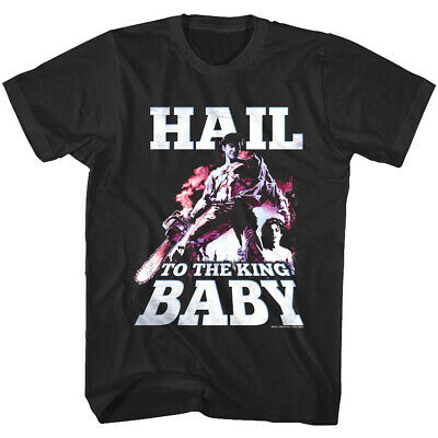 Army of Darkness Hail to The King Baby Men's T Shirt Ash Chainsaw Horror Movie