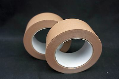 50mm x 50m Eco Brown Self Adhesive Picture Framing Paper Packaging Pack of 2