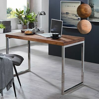 FineBuy Writing desk SV44437 solid wood sideboard computer table console table
