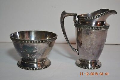 Vintage International Silver Barbour S P Co Silverplate Sugar & Creamer