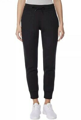 Womens 32 DEGREES Tech Fleece Jogger Pants Black Size Medium