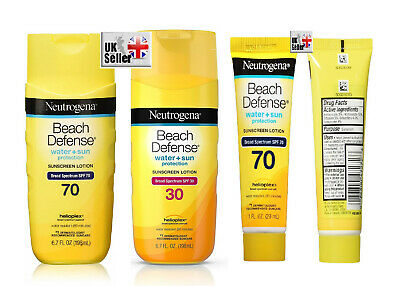 Neutrogena Beach Defense Sunscreen Lotion SPF 70/SPF 30 water resistance 6.7oz
