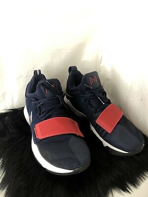 fa0a0aab0a0 Nike PG 1 Olympic USA Navy Red White Paul George 878627 900 Mens Size 8.5