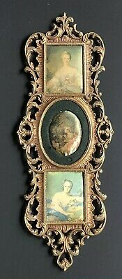 Vintage Italy Gold Antique TRIPLE Frame Metal Picture Portrait LOTS LISTED!