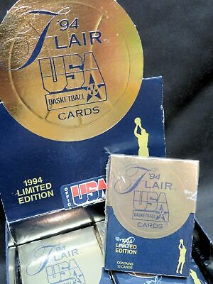 1994 FLEER FLAIR USA Olympic Basketball Factory-Sealed Trading Card PACK