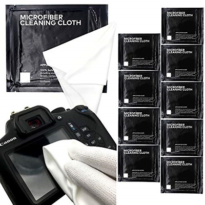 SANHOOII 9X9 inch Microfiber Camera Lens Cleaning Cloth, 9 Pack DSLR Camera kit