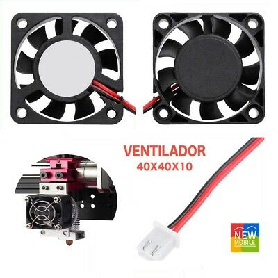 Ventilador Turbina 5015 12v 40x40x10 para Impresora 3D Cooler 40mm 10mm Blower