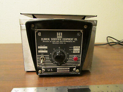 CSE Clinical Scientific Equipment Co. Model 1300 Heater Bath With Compartments