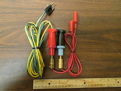 Pair High Current SuperCon Connectors Wired to Banana Plugs and Alligator Clips