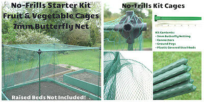 1.6m high No-Frills Vegetable Fruit Cage Frame Plastic Coated Cane Butterfly Net