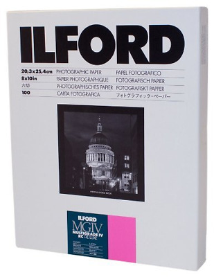 2 X Ilford Multigrade IV RC Deluxe Resin Coated VC Paper, 8x10, 100 Pack Glossy