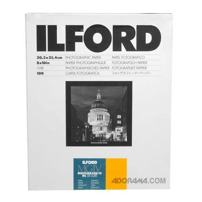 Ilford Deluxe MGIV RC Satin 8x10 inches 20.3x25.4 centimetres 100 Sheets