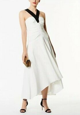 8cfd35168e STUNNING KAREN MILLEN Red Multi Halterneck Maxi Dress Uk Size 14 Rrp ...
