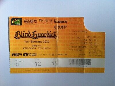 BLIND GUARDIAN Orginal TICKET 01.10.2010 Ludwigsburg Tour Germany
