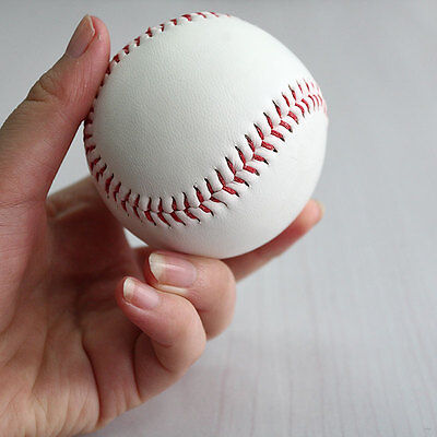 "9"" Soft Leather Sport Practice & Trainning Base Ball BaseBall Softball ZT"