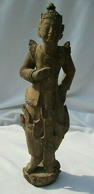 Superb Early Oriental Rosewood Deity Hand Carved Figure 32 cm in height