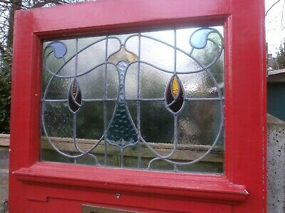 Antique stained glass front door.