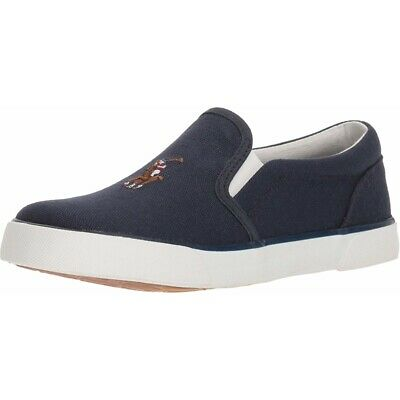 Polo Ralph Lauren Bal Harbour II Navy Canvas Baby Trainers Shoes
