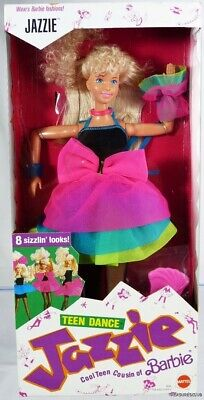 Teen Dance Jazzie Barbie Doll #3634 New Never Removed from Box 1988 Mattel 3+