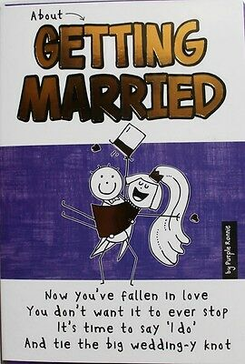 About getting married Purple Ronnie Wedding Day card, special couple, brand new
