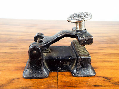 Antique Art Nouveau Victorian Cast Iron Embossing Stamp Seal Crimper The Pearl
