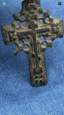 Medieval 14th Century Byzantine Empire Christian Cross Pendant