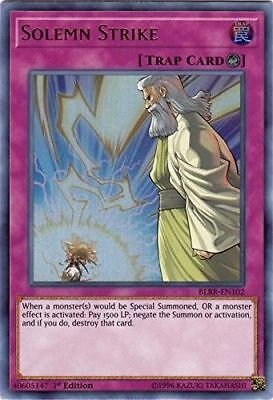 Yugioh Card | Solemn Strike - BLRR-EN102 - Ultra Rare - 1st Edition NM