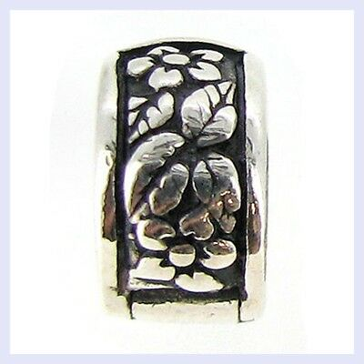 925 Sterling Silver Flower Leaf Clip Stopper Bead for European Charm Bracelet