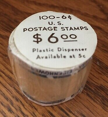 100 Coil Roll of 6 Cent Eisenhower U.S. Postage Stamps - Scott's #1401