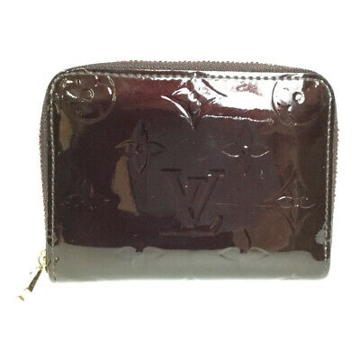 c33f3bb906 Auth Louis Vuitton Monogramma Vernis M93607 Zippy Portamonete Moneta Case